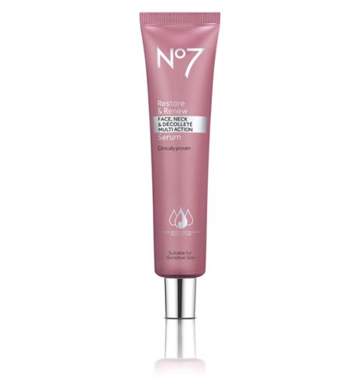 No7 Restore & Renew FACE, NECK & DÉCOLLETÉ MULTI ACTION Serum 75ml