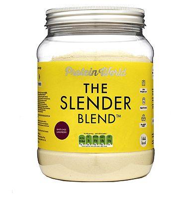Protein World - The Slender Blend - White Chocolate & Raspberry flavour