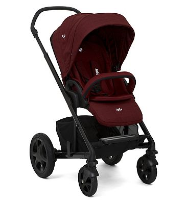 Joie Chrome DLX Pushchair & Carry Cot – Cranberry