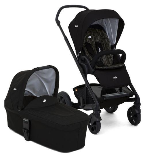 Joie Chrome DLX Pushchair & Carry Cot Dots