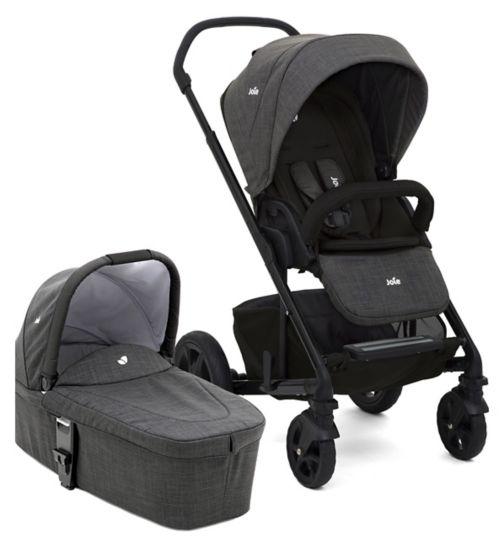 Joie Chrome DLX Pushchair & Carry Cot Pavement