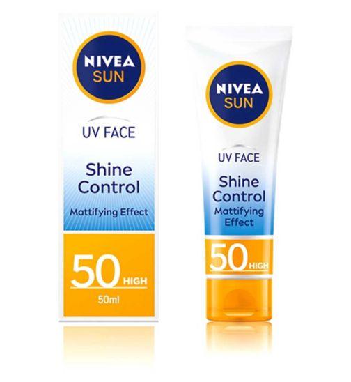 NIVEA SUN UV Face Suncream SPF 50 Shine Control 50ml