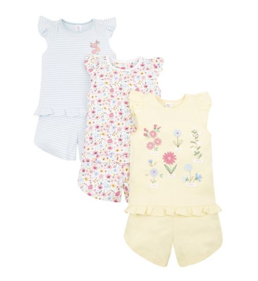 Mini Club 3 Pack Shortie Pyjamas