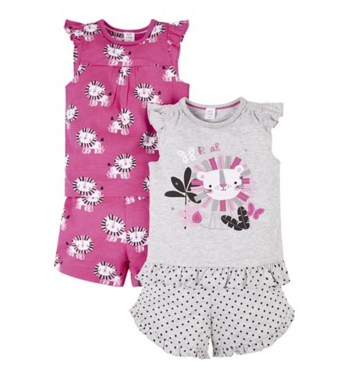 Mini Club 2 Pack Lion Shorts Pyjama