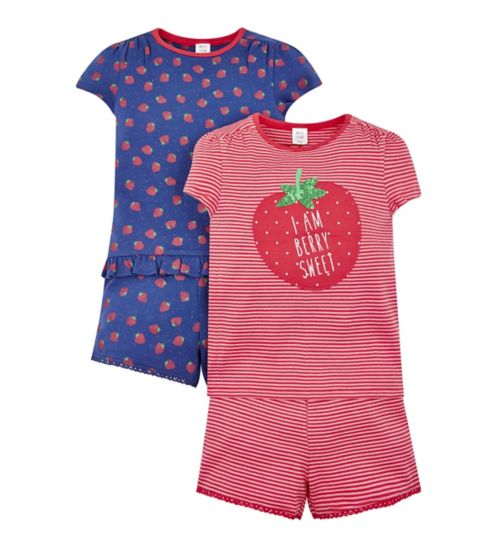 Mini Club 2 Pack Strawberry Pyjamas