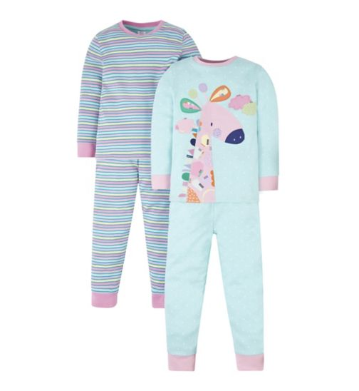 Mini Club 2 Pack Giraffe Pyjamas
