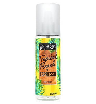 Impulse Body Mist Tropical Beach + Espresso Body Mist 150ml