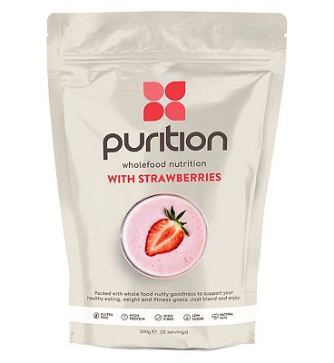Purition Wholefood Plant Nutrition with Strawberry (500g)