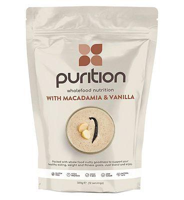 Purition Wholefood nutrition - Macadamia & Vanilla (500g)