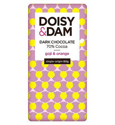 Doisy & Dam Goji and Orange Dark Chocolate 80g