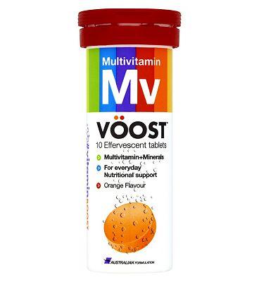VOOST Multivitamin Orange Flavour 10 Effervescents