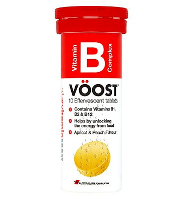 VOOST Vitamin B Complex Apricot Peach Flavour 10 Efferevescents