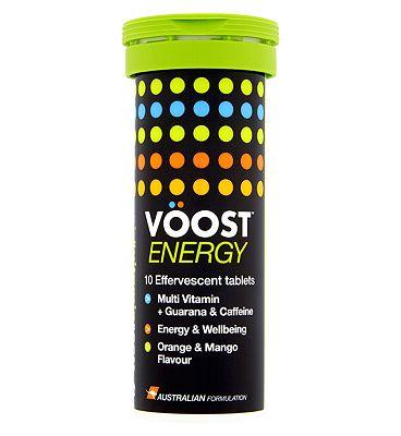 Voost Energy (Orange & Mango) Flavour 10 effervescent tablets
