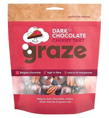 Graze Dark Chocolate Cherry Tart - 128g