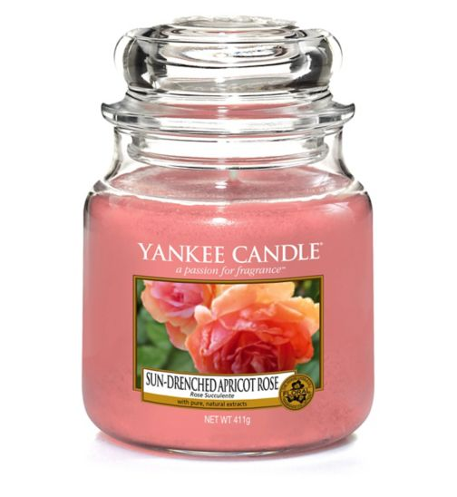 Yankee Candle Classic - Medium Jar Candle Sun-Drenched Apricot Rose