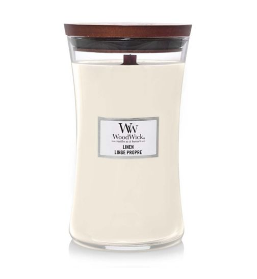 WoodWick linen candle large