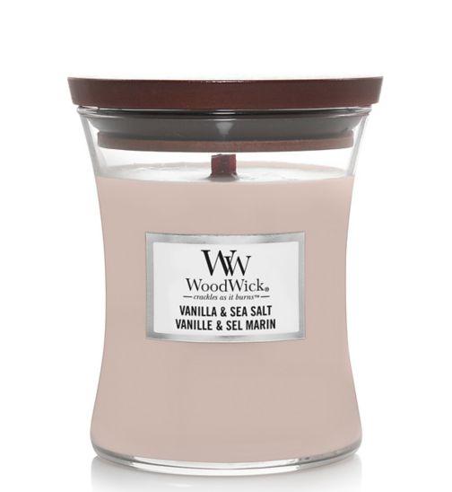 WoodWick vanilla and sea salt candle medium