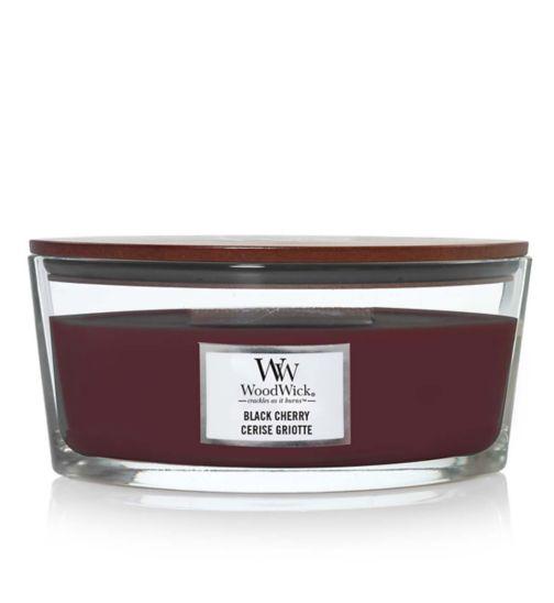 Woodwick black cherry hearthwick candle