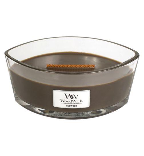 WoodWick oudwood hearthwick candle