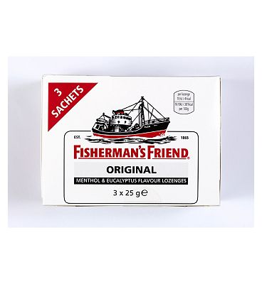 Fisherman's Friend Original - Menthol & Eucalyptus Flavour Lozenges - 3 Sachets