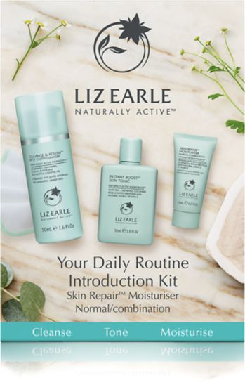 Liz Earle Your Daily Routine Introduction Kit with Skin Repair™ Moisturiser – Normal/combination