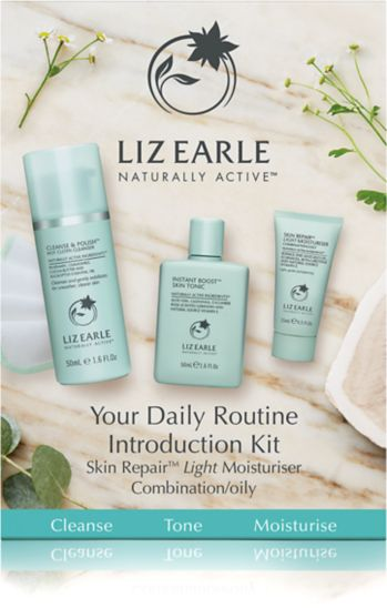 Liz Earle Your Daily Routine Introduction Kit with Skin Repair™ Light Moisturiser – Combination/oily