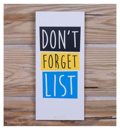 Deck Chair 'Don't Forget List' Magnetic Listpad