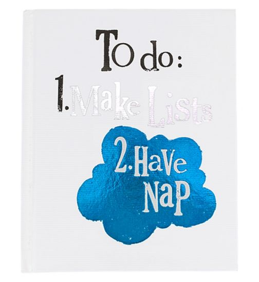 The Bright Side 'To Do: 1. Make Lists 2. Have Nap' Notebook