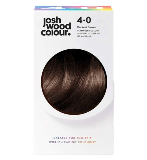 Josh Wood Colour 4.0 Mid-Brown Permanent Hair Dye