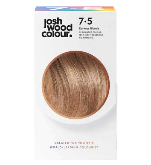 Josh Wood Colour 7.5 Mid-Blonde Permanent Hair Dye
