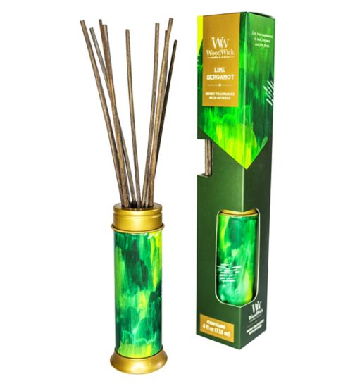 WoodWick artisan lime and bergamot reed diffuser 4oz