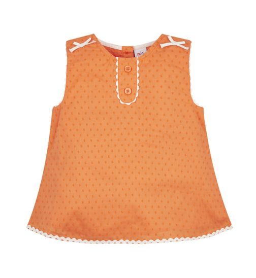Mini Club Bows And Arrows Orange Blouse