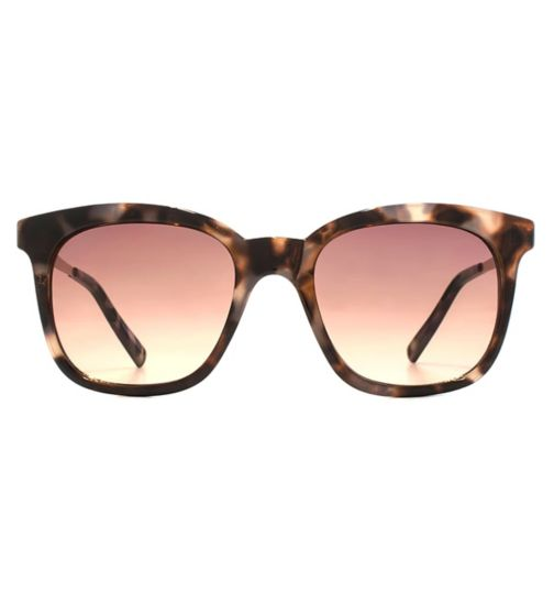 French Connection Womens Glam Tortoiseshell Sunglasses with Metal Temple