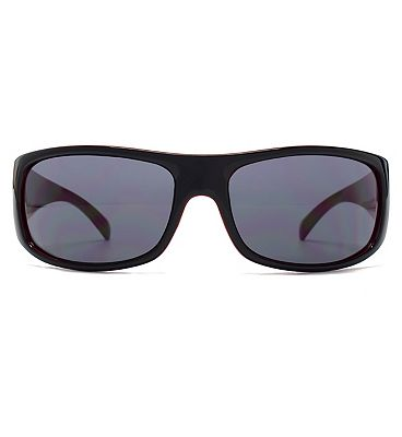 Fcuk Sport Sunglass Sports Wrap Black Front With Red Interior 26FCS027