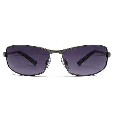FCUK Sport Sunglasses - Gunmetal and White Frame