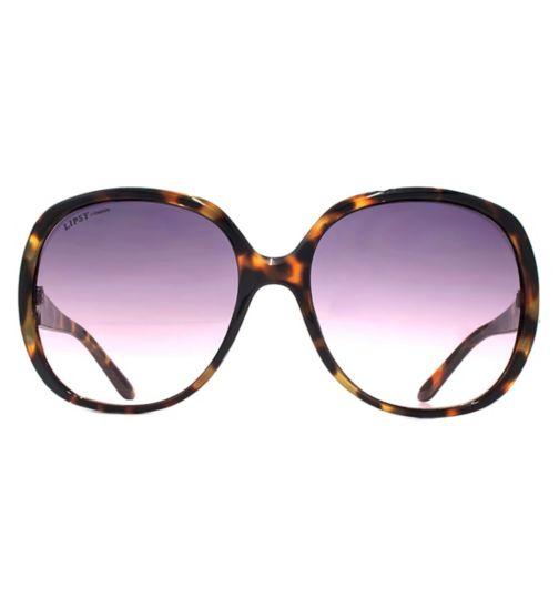 Lipsy 70s Oversized Tortoiseshell Sunglasses