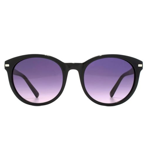 Whistles Classic Oval Black Sunglasses