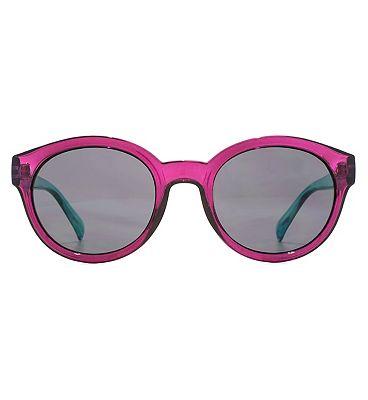Monkey Monkey Sunglasses Rounded Preppy Crystal Purple Q26MNK234