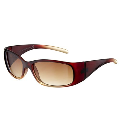 a128a5e17cf Boots Ladies Crystal Brown Wrap Sunglasses