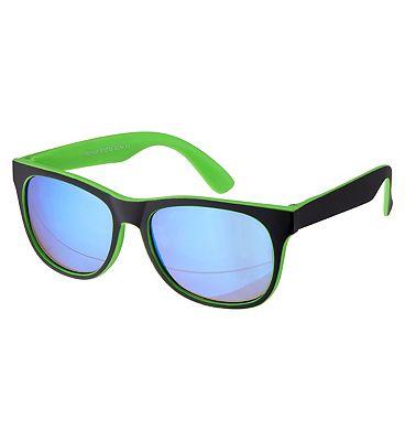 Boots Kids Sunglasses - Matt Black and Green Frame