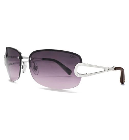 ad0886f516 Suuna Womens Sunglass Rimless Shiny Silver 26SUU114