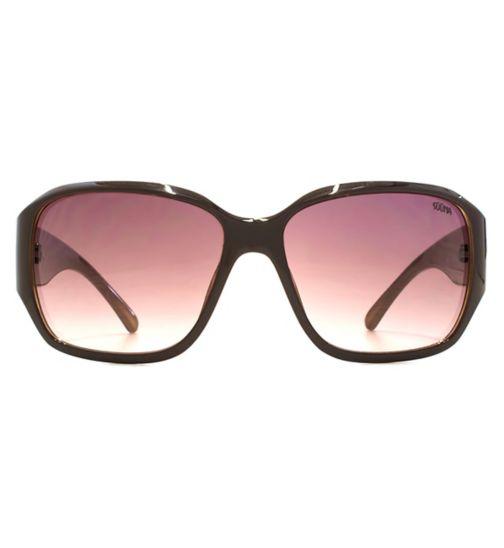 71d74ac9954 Suuna Women Sunglasses Square Glam Solid Brown Outside   Beige Inside  Q26SUU161