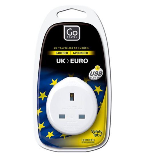Go Travel UK to EU USB Adaptor
