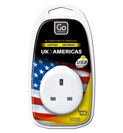 Go Travel UK to USA USB Adaptor