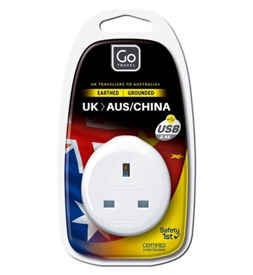 Go Travel UK to Australia USB Adaptor