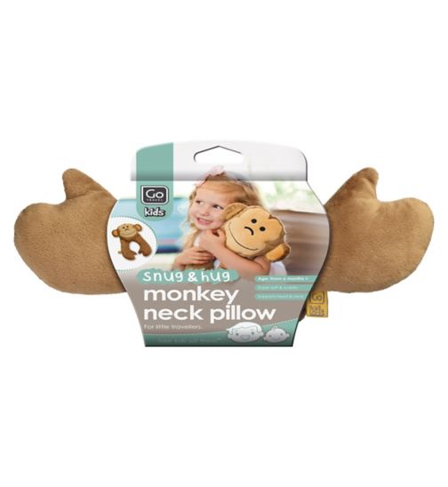 GoTravel Monkey Flat Kids Neck Pillow