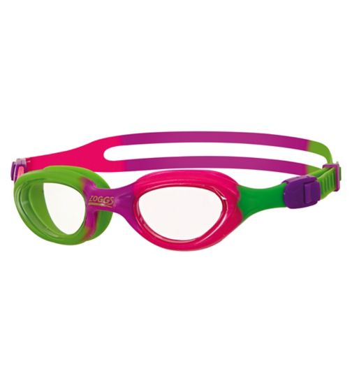 Zoggs Little Super Seal Purple and Lime Goggles 1-6 Yrs