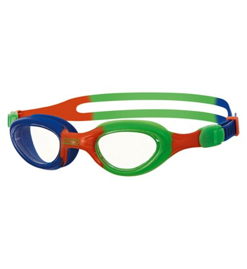 Zoggs Little Super Seal Blue and Green Goggles 1-6 Yrs