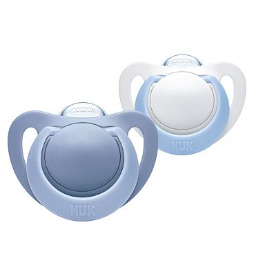 NUK Genius Silicone Soother Blue 0 - 6 Months