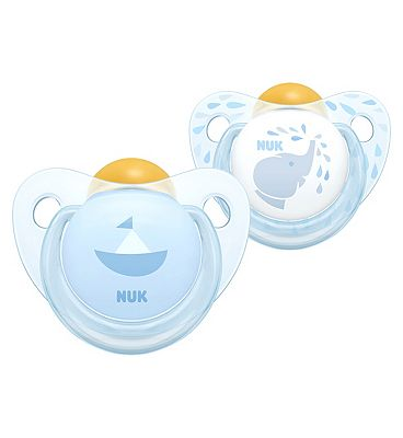 NUK Rose & Blue Latex Soother 0 - 6 Months Blue